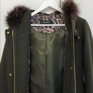 Ellen Tracy Coat with Fox Fur hood
